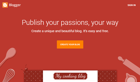Create your blog in Blogger