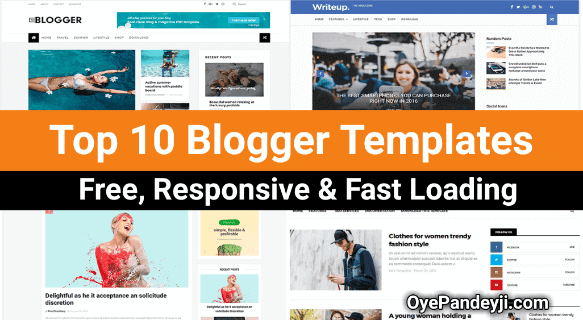 Top 10 Free, Responsive, Fast Loading Blogger Template 2019 in Hindi