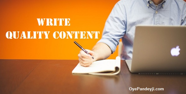 How to write High Quality Content Hindi